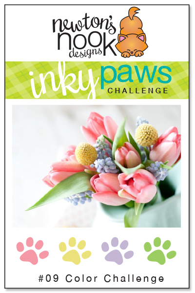 Inky Paws challenge #9 - Color Challenge | Newton's Nook Designs