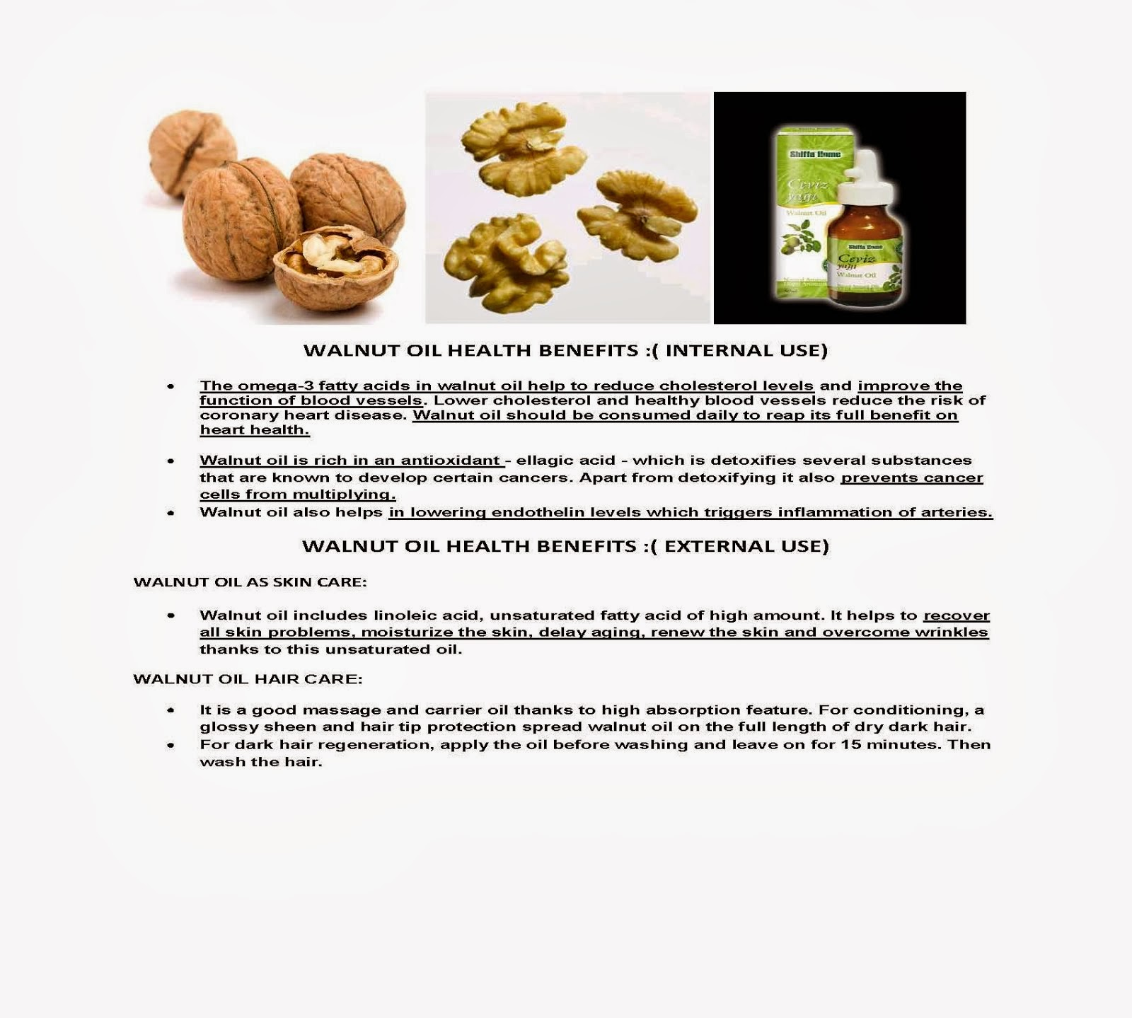 Walnut Oil Health