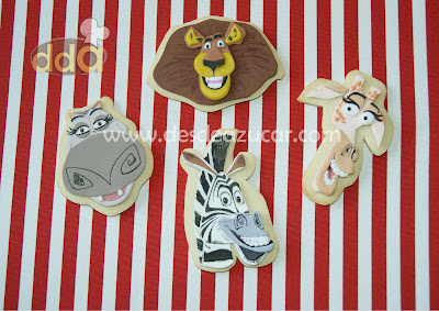 galletas, galletas de mantequilla, galletas de madagascar, madagascar, galleta de Alex, galleta de Marty, galleta de Melman, galleta de Gloria,