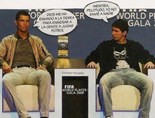 Chiste Cristiano Ronaldo y Leo Messi