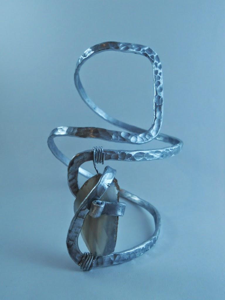Bracciale Alluminio e Agata
