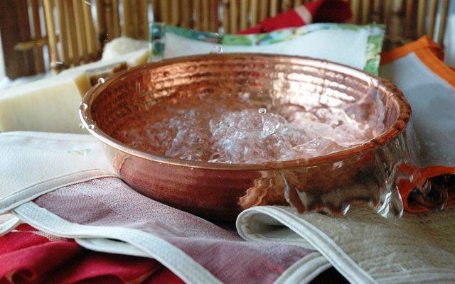 Del ba o turco a la comodidad de nuestra casa guante exfoliante mispolkadots - Bano turco en casa ...