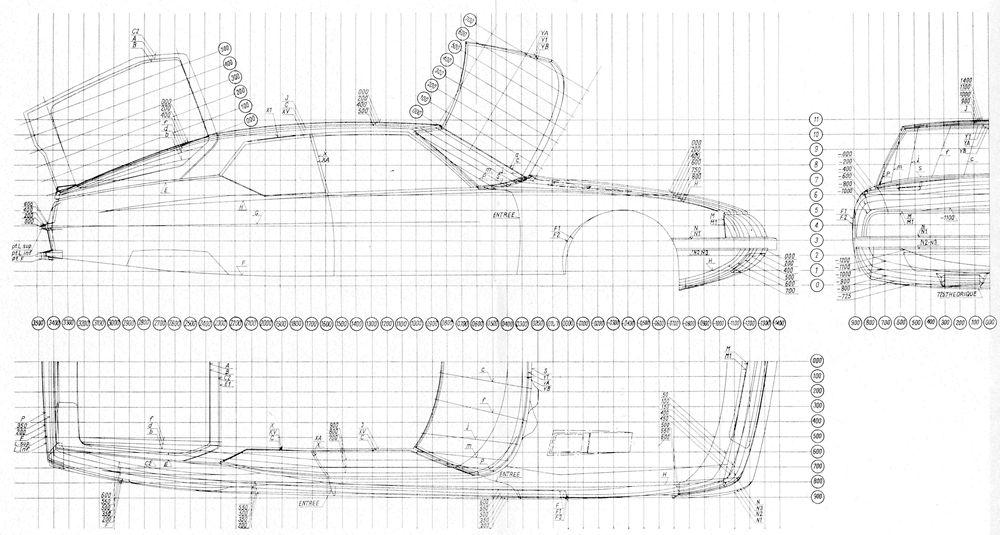 citroen sm engineering drawings