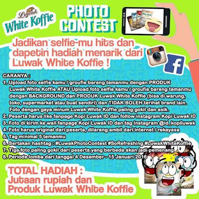 Info Kontes - Kontes Foto Selfie Luwak White Koffie