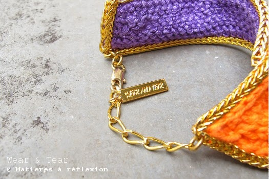 Bracelet orange et or Wear & Tear