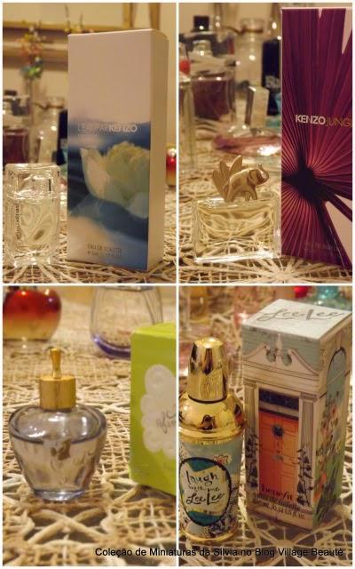 perfumes em miniatura