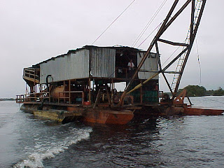 Diamond and Gold recovery on the Caroni River Venezuela