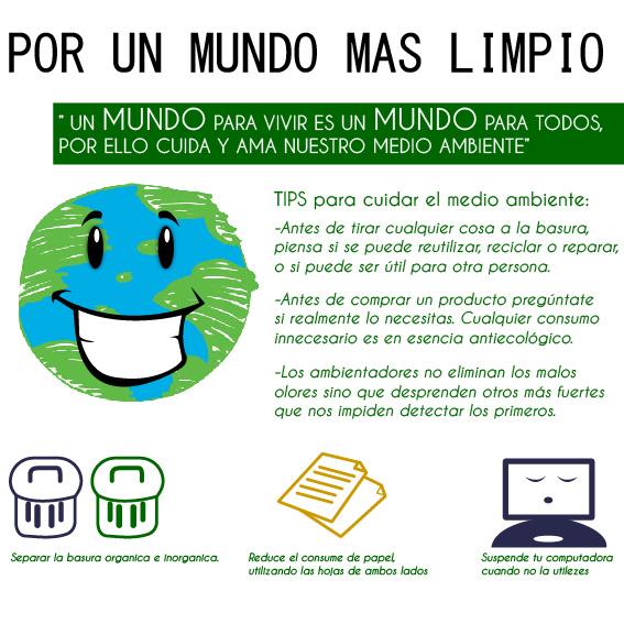 Mensaje sobre el cuidado del medio ambiente - Imagui