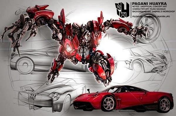Gambar Mobil Pagani Hyura Autbots Transformers 4 Age of Extinction