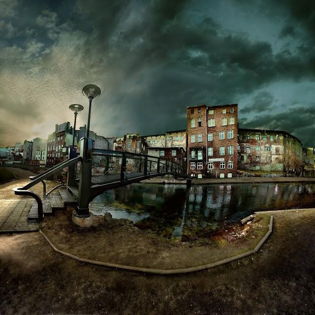 мрачные пейзажи домов