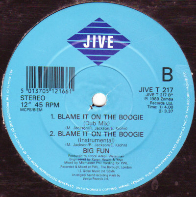 64  Blame It On The Boogie   7 Version   Big Fun
