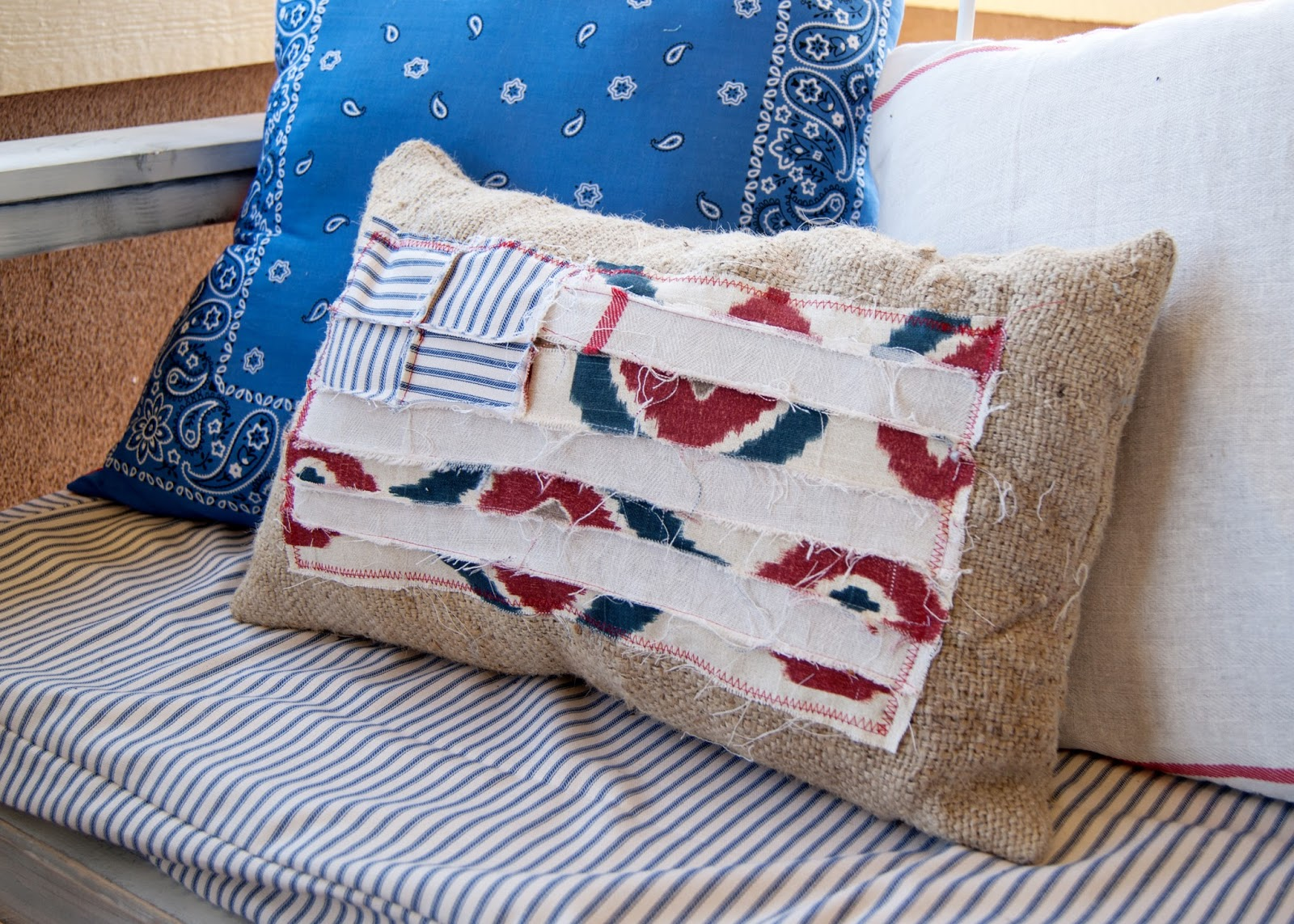 DIY Scrappy Flag Pillow