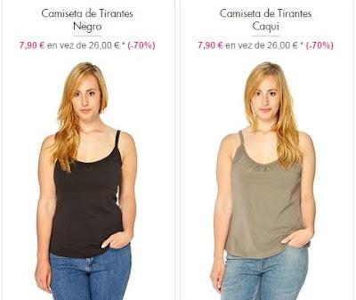 Camisetas de tirantes en tallas grandes