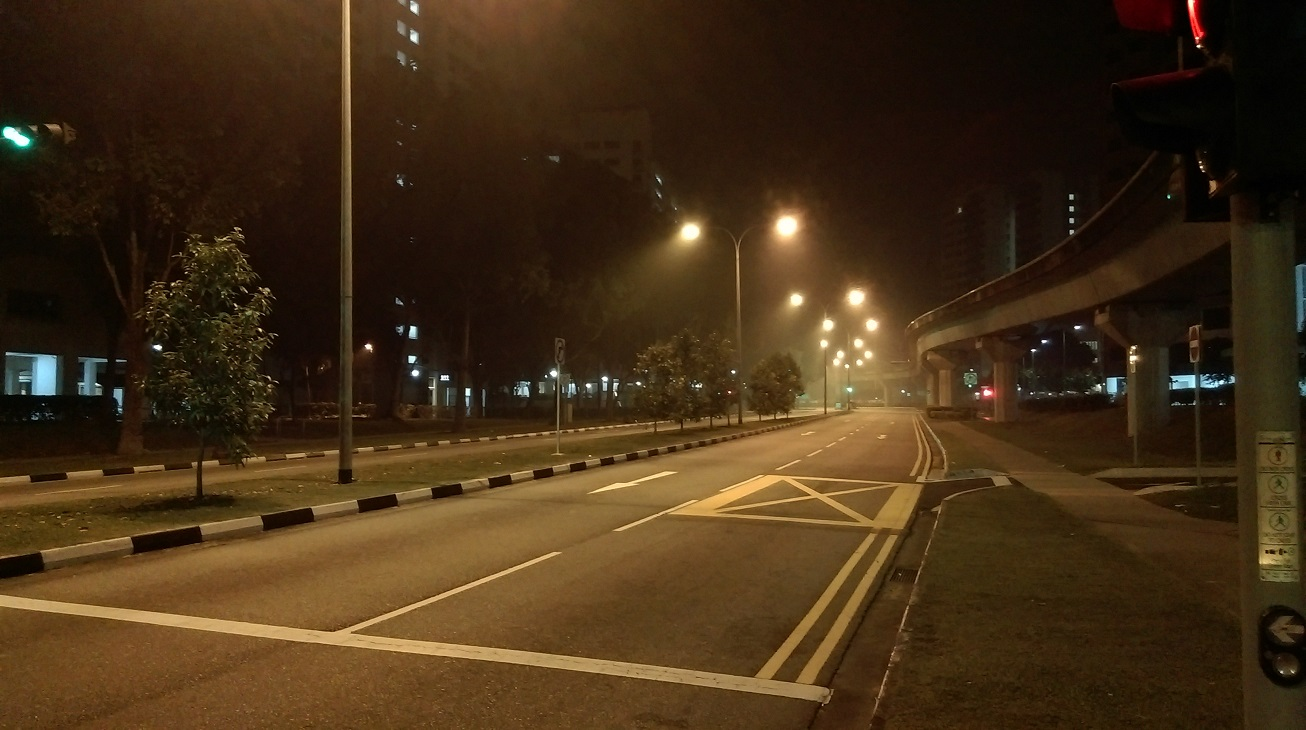 Singapore street at 3am.