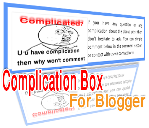 Complication Box blogger widget
