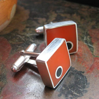 colourful cuff links