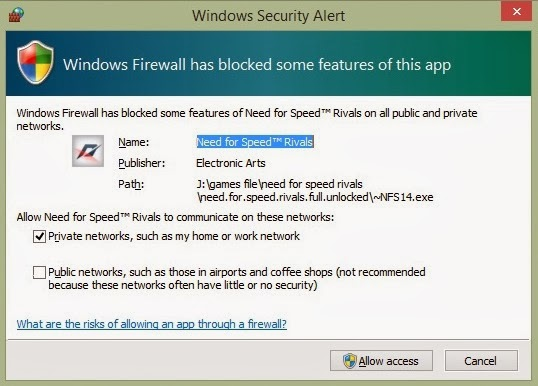 How to turn off Windows Firewall annoying popup message
