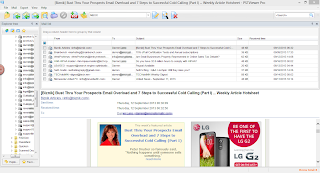 The .pst viewer Pro main screen displaying an html email message from a .msg file.