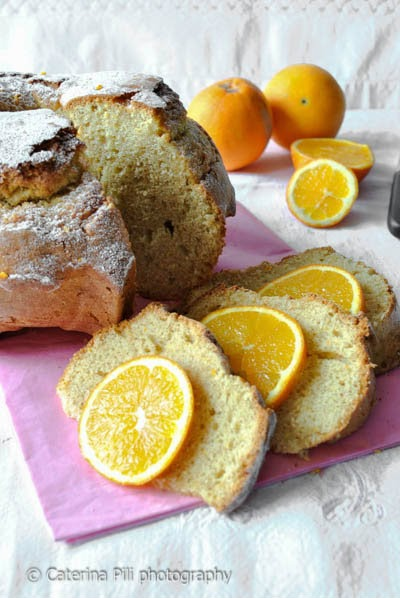 Torta semintegrale con arance naturali di Calabria