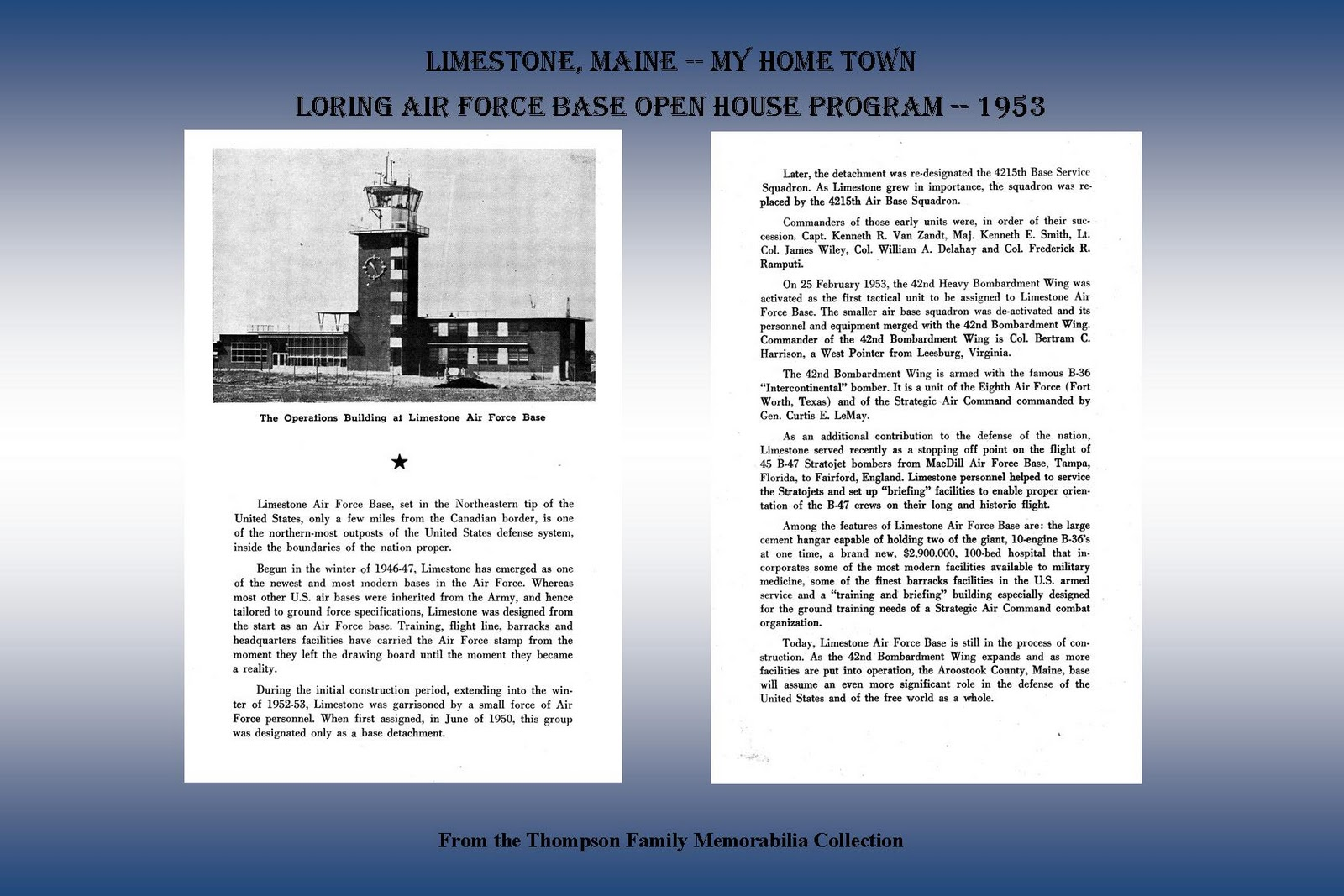 limestone loring afb mature singles Loring international airport is the operational name of the airfield at the former loring air force base in limestone, maine it is currently operated by the loring commerce centre.