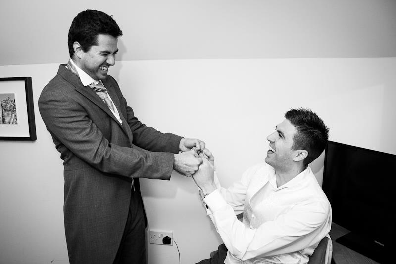 Morning preparations, groom, best man