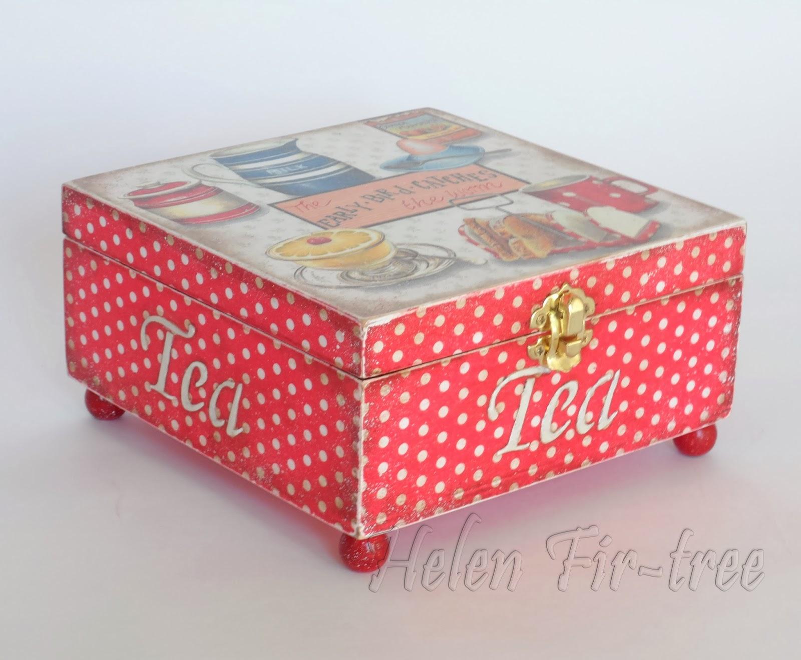 Helen Fir-tree декупаж шкатулка decoupage box
