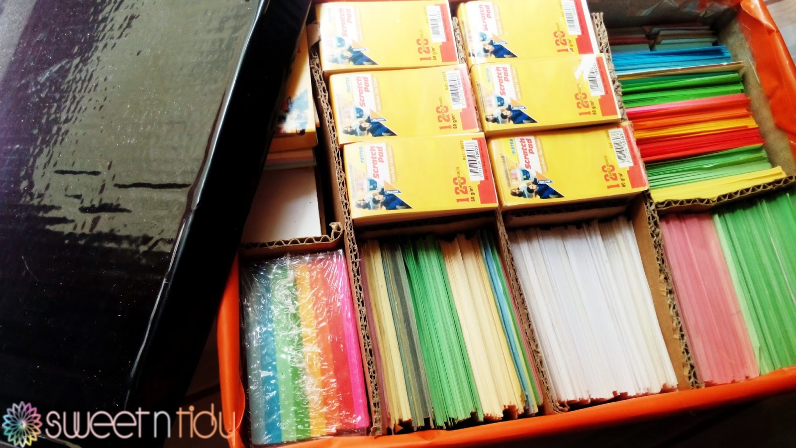 How to organize origami papers