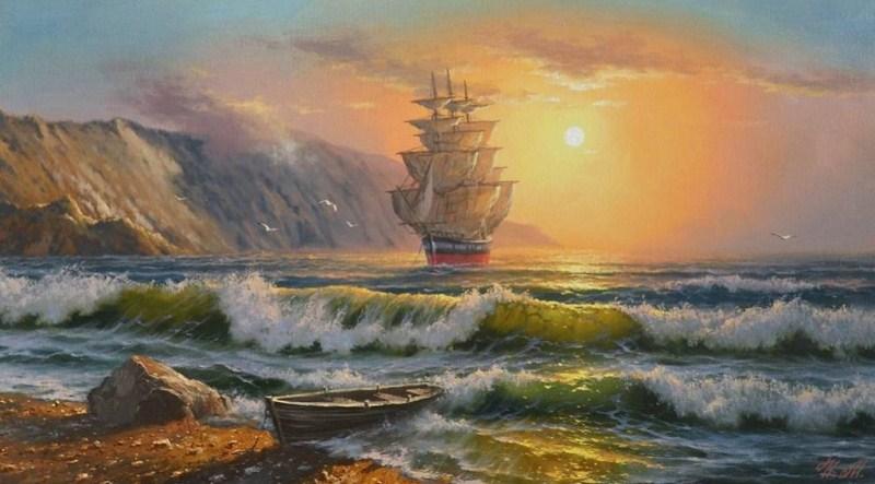 Im genes arte pinturas selecci n de oleos de marinas for Cuadros de marinas