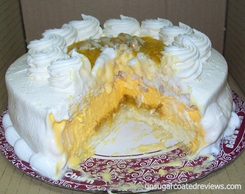 Bake and Churn mango madness ice cream cake