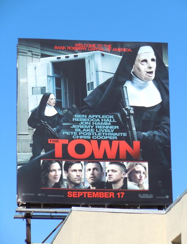 Town movie billboard