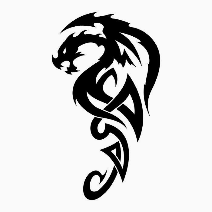 Dragon one of the most frequently depicted on tattoos mythological
