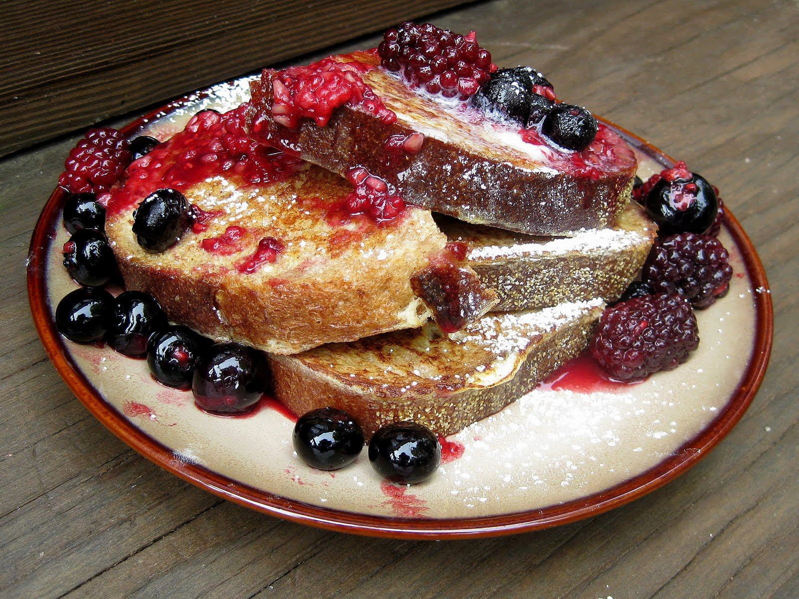 French Toast with Mixed Berry Compote | A Hint of Honey