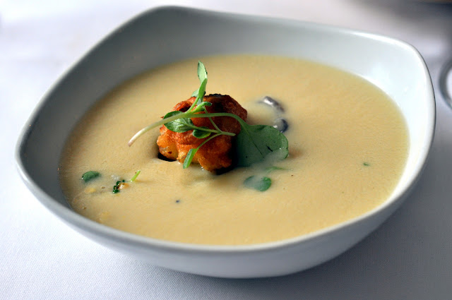 Roasted Teprovich Farm Corn Soup at Bolete - Bethlehem, PA | Taste As You Go