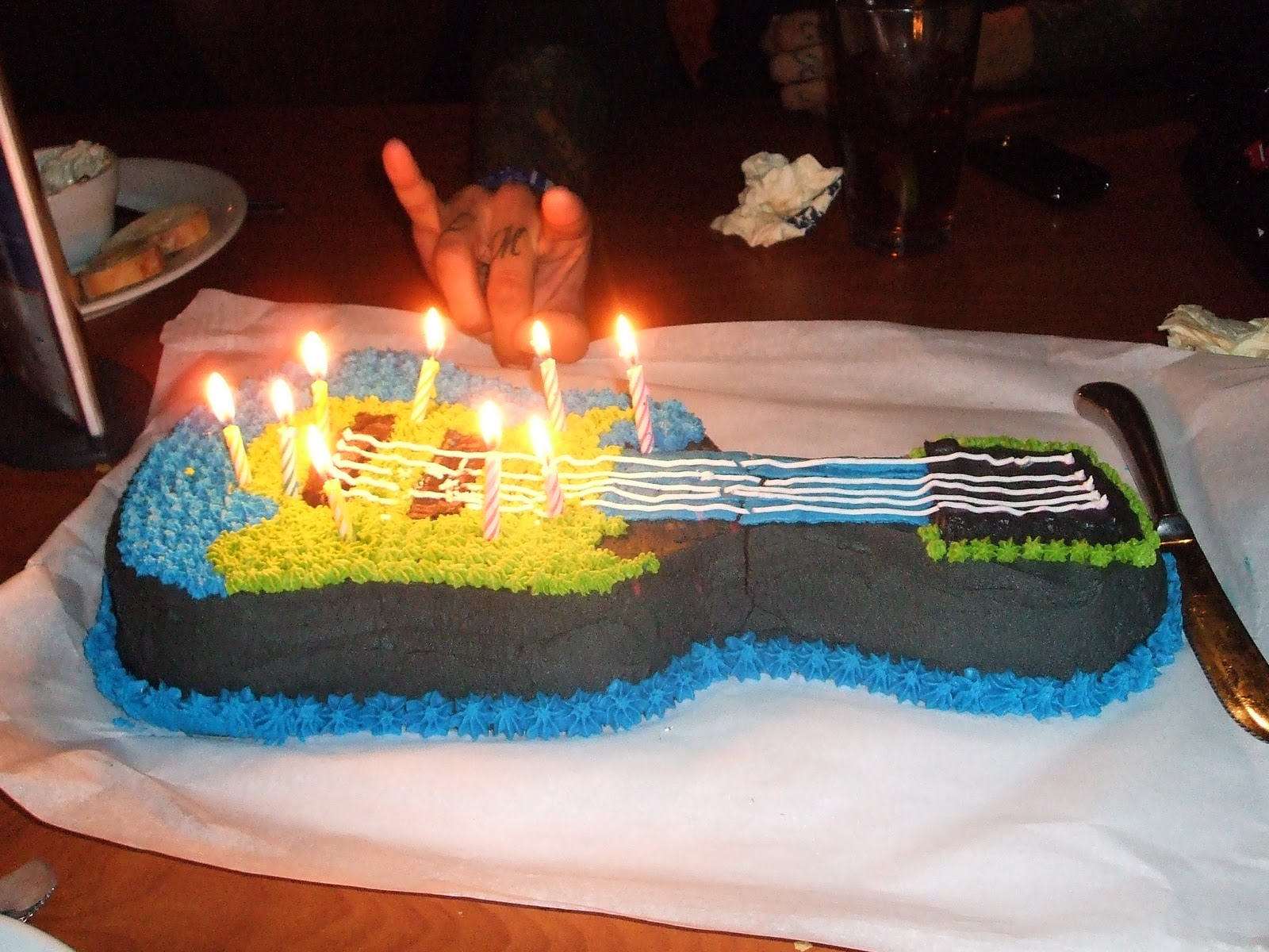 Electric Guitar Cake Eddies Birthday Designed By Dee
