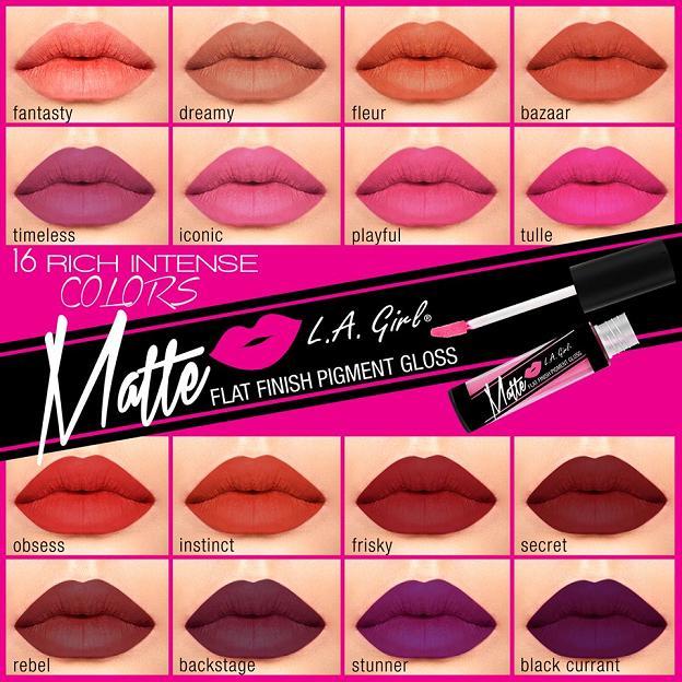 Image result for la girl matte pigment gloss