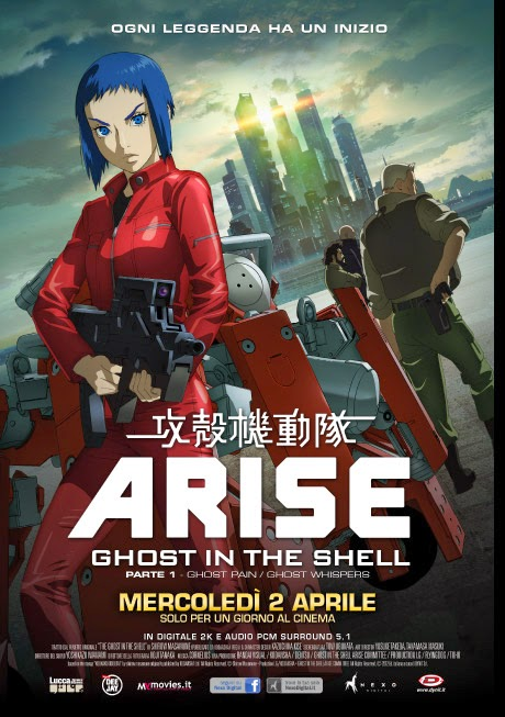 GHOST IN THE SHELL ARISE: ELENCO DEI CINEMA CHE PROIETTANO ANIME