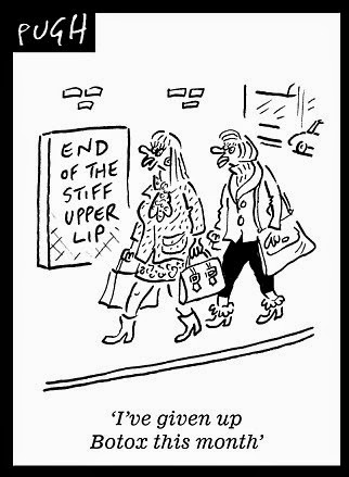 Stiff upper lip cartoon