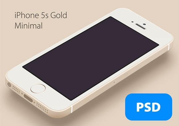 iPhone5S Gold mockup
