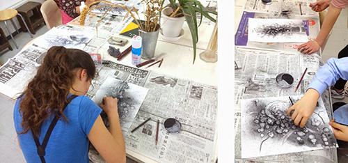 横浜美術学院の中学生教室 美術クラブ さあ、皆も描いてみよう!