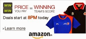 IPL Fan Merchandise Price = Winning Team's Score