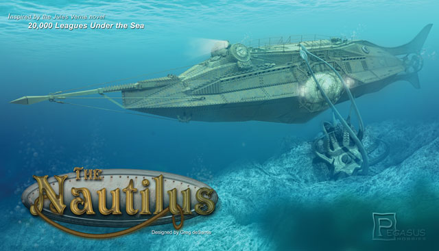 King s hobby shop jules verne nautilus submarine in 1 144 scale is
