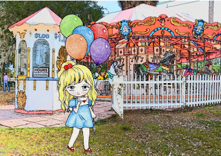Cute Balloon Girl