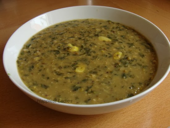 Spinach & Green Gram Curry+indian recipe