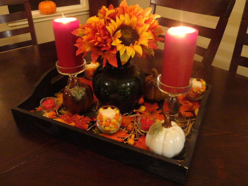 So I Saw This Tutorial Dollar Store Fall Centerpiece
