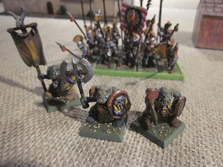 Warhammer Fantasy Battle Report - Tilean Pikemen chase down the orc boyz