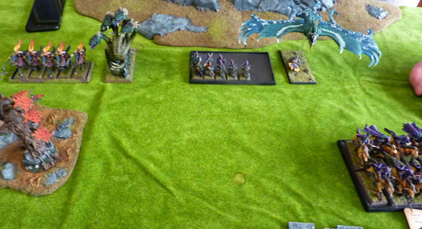 A Warhammer Fantasy Battle Report between Wood Elves and Host of the Eternity King.