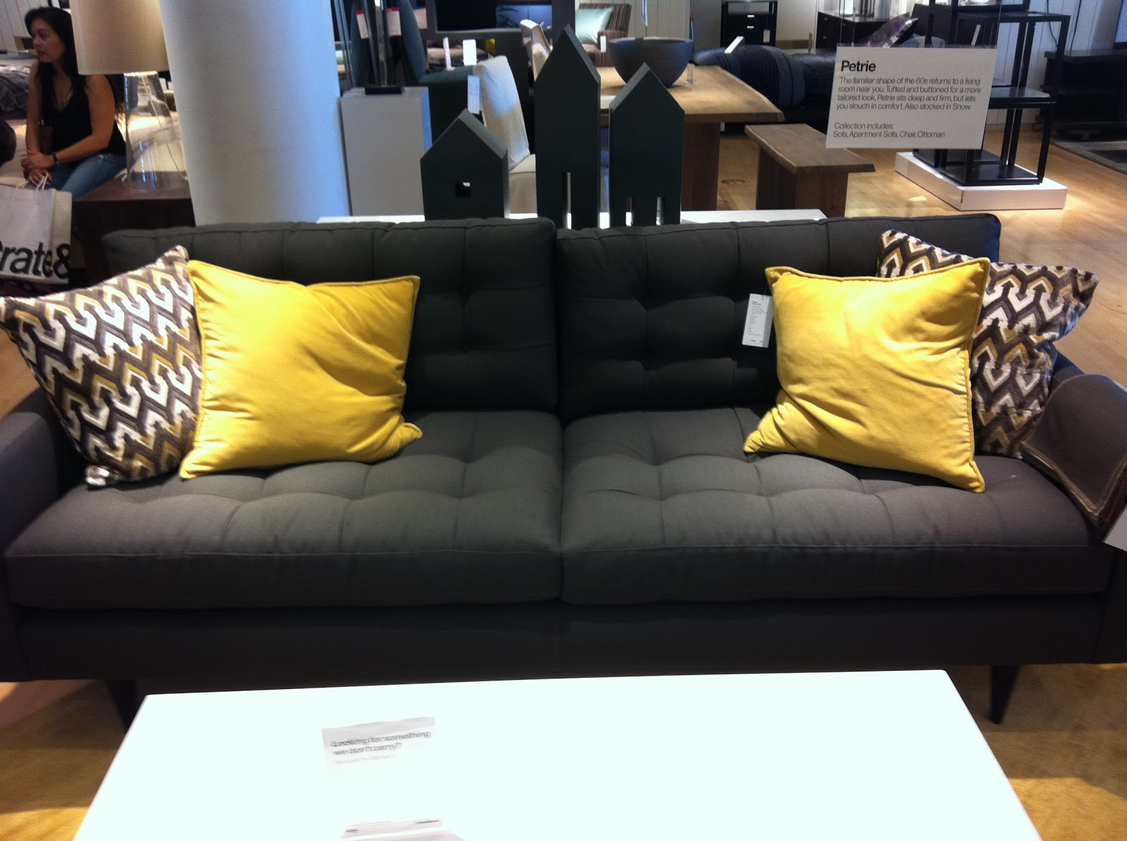 Attractive The Petrie Sofa In Graphite. Itu0027s Tufted And Comfy With Classic Lines But  Boasts A Price Tag Of $1699.