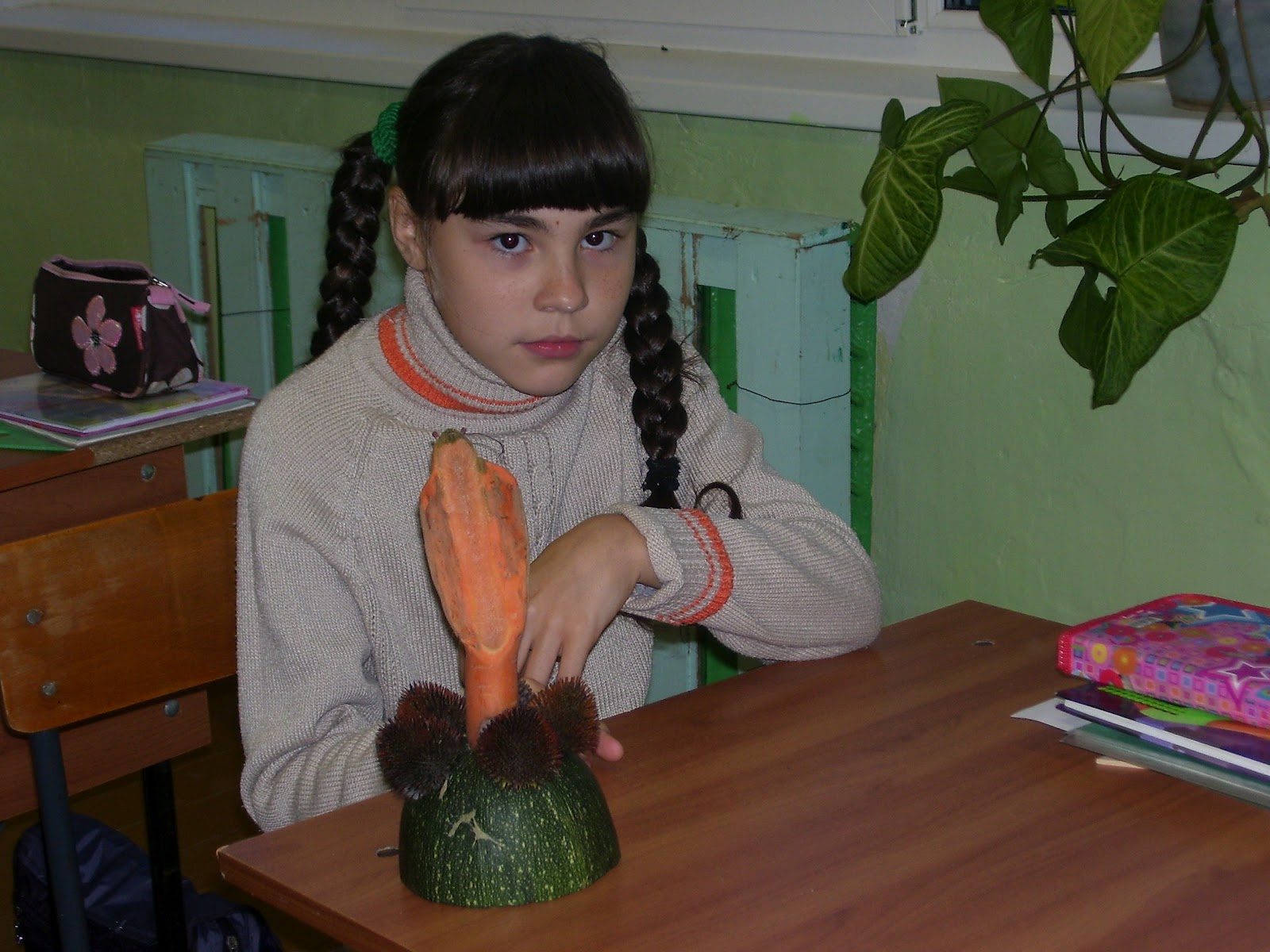 Детские поделки из овощей и фруктов (фото) Коробочка идей 34