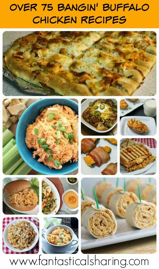 Over 75 Bangin' Buffalo Chicken Recipes | No need to enjoy buffalo sauce on just wings, this roundup is full of all sorts of non-wing buffalo chicken goodness! #SuperBowl #buffalosauce #chicken #recipes