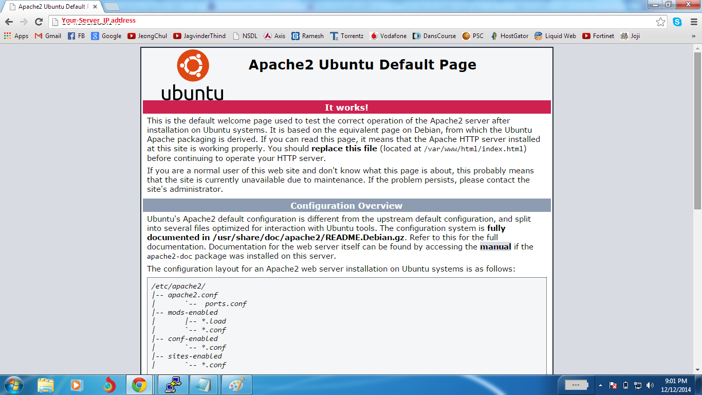 Thatu0027s It. To Check If Apache Is Installed, Go To Your Browser And Enter  Your Serveru0027s IP Address (Eg. Http://Your Server IP Address).